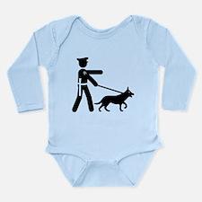 K9 Police Long Sleeve Infant Bodysuit