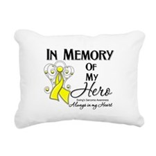 In Memory Ewing Sarcoma Rectangular Canvas Pillow