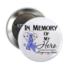 """In Memory Esophageal Cancer 2.25"""" Button"""