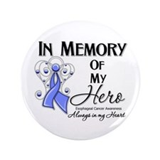"In Memory Esophageal Cancer 3.5"" Button"