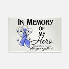 In Memory Esophageal Cancer Rectangle Magnet