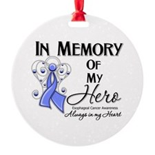 In Memory Esophageal Cancer Round Ornament