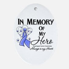 In Memory Esophageal Cancer Ornament (Oval)