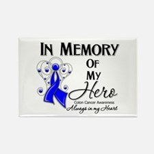 In Memory Colon Cancer Rectangle Magnet