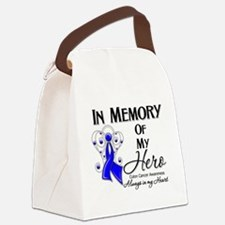 In Memory Colon Cancer Canvas Lunch Bag