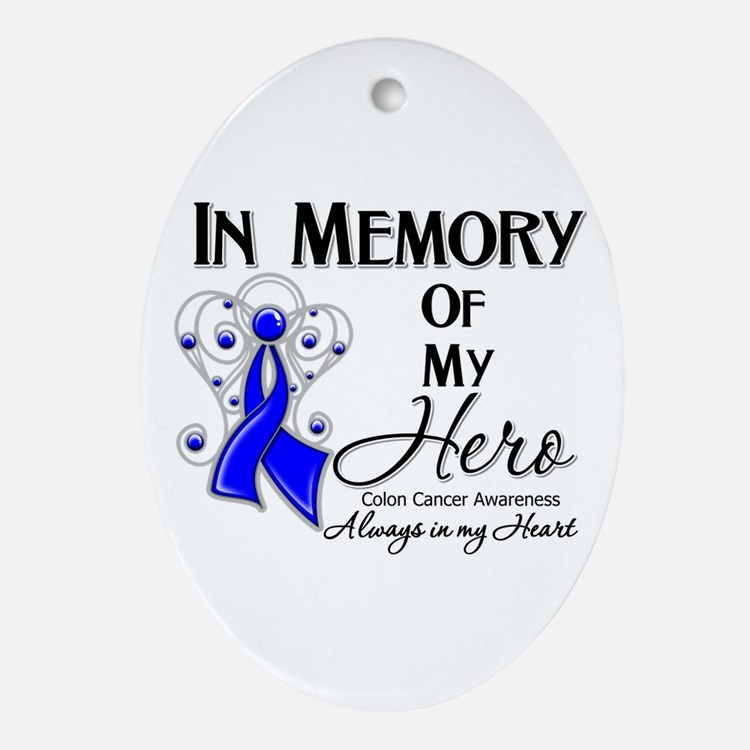 In Memory Colon Cancer Ornament (Oval)