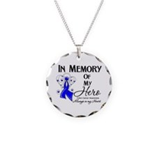 In Memory Colon Cancer Necklace Circle Charm