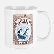 1928 Lundy Island Puffins Engraved Print Mug