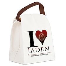 I Heart Jaden Canvas Lunch Bag