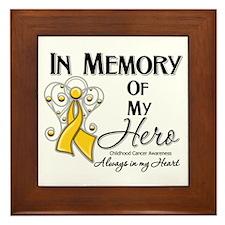 In Memory Childhood Cancer Framed Tile