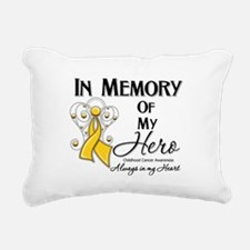 In Memory Childhood Cancer Rectangular Canvas Pill