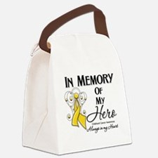 In Memory Childhood Cancer Canvas Lunch Bag