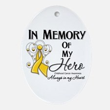 In Memory Childhood Cancer Ornament (Oval)