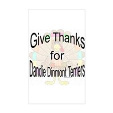 Thanks for Dandie Dinmont Rectangle Decal