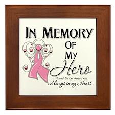 In Memory Breast Cancer Framed Tile