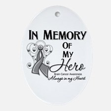 In Memory Brain Cancer Ornament (Oval)