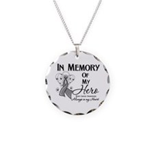 In Memory Brain Cancer Necklace Circle Charm