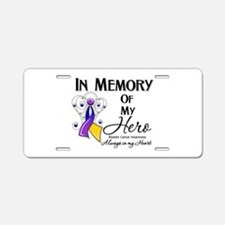In Memory Bladder Cancer Aluminum License Plate