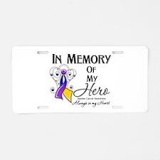 In Memory Bladder Cancer Aluminum License Plate