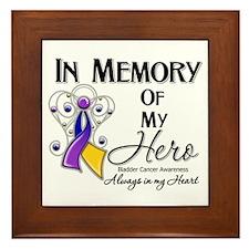 In Memory Bladder Cancer Framed Tile