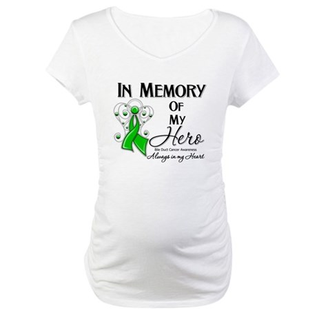 In Memory Bile Duct Cancer Maternity T-Shirt