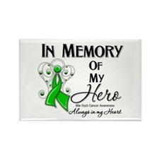 In Memory Bile Duct Cancer Rectangle Magnet