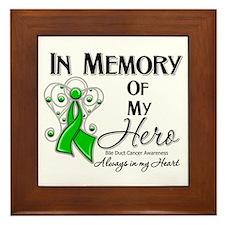 In Memory Bile Duct Cancer Framed Tile