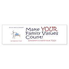 Political Bumper Sticker, Education