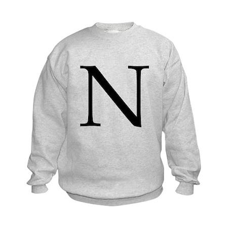 N_Book_Antiqua_black.psd Kids Sweatshirt
