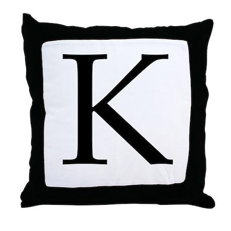 K_Book_Antiqua_black.psd Throw Pillow