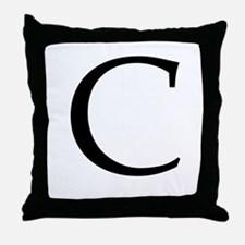 C_Book_Antiqua_black.psd Throw Pillow