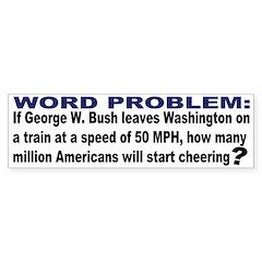 Word Problem Bumper Bumper Sticker