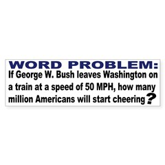 Word Problem Bumper Bumper Sticker