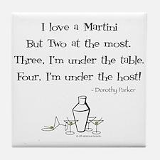 Martini Love! Tile Coaster