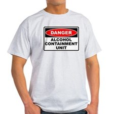 Alcohol Containment Ash Grey T-Shirt
