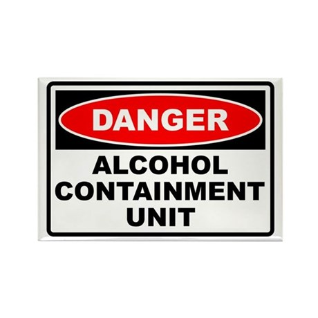 Alcohol Containment Rectangle Magnet