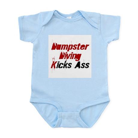 Dumpster Diving Kicks Ass Infant Creeper