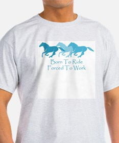 Forced To Work Ash Grey T-Shirt