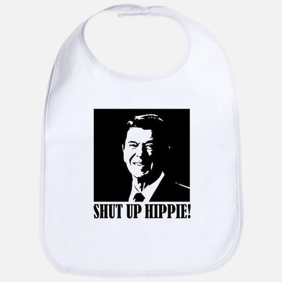 Shut up Hippie Bib