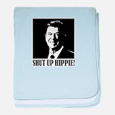 Shut up Hippie baby blanket