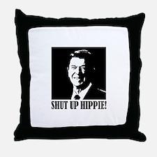 Shut up Hippie Throw Pillow