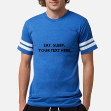 Personalized Eat Sleep Mens Football Shirt