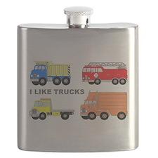 I Like Trucks Flask