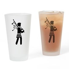 Bagpiper Drinking Glass
