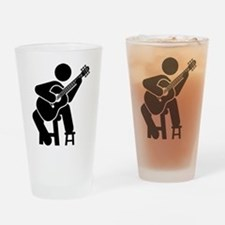Classical Guitar Drinking Glass
