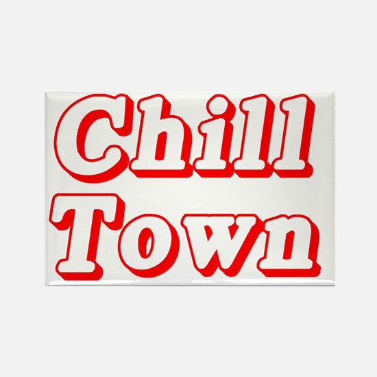 CHILL TOWN Rectangle Magnet