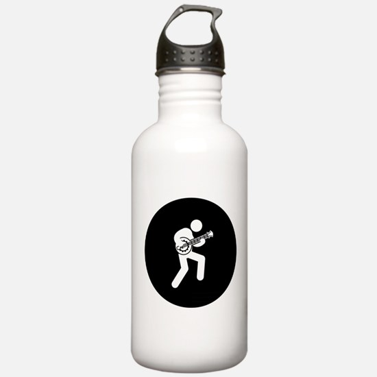 Banjo Player Water Bottle