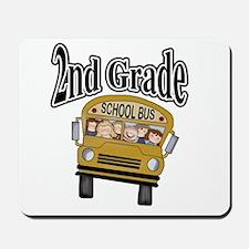 School Bus 2nd Grade Mousepad