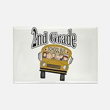 School Bus 2nd Grade Rectangle Magnet