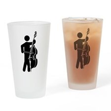 Double Bassist Drinking Glass